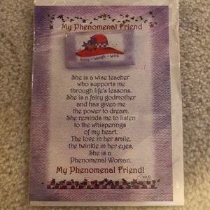 Red Hat Society card with pin
